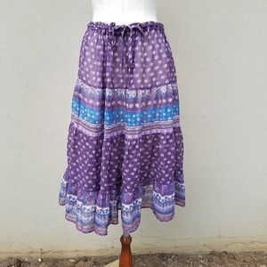 Vintage Byer boho tiered skirt